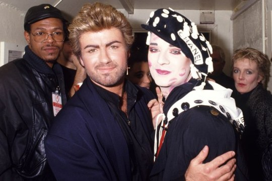 George Michael and Boy George at the Party for AIDS