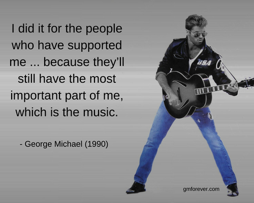 George Michael Quote on Fame