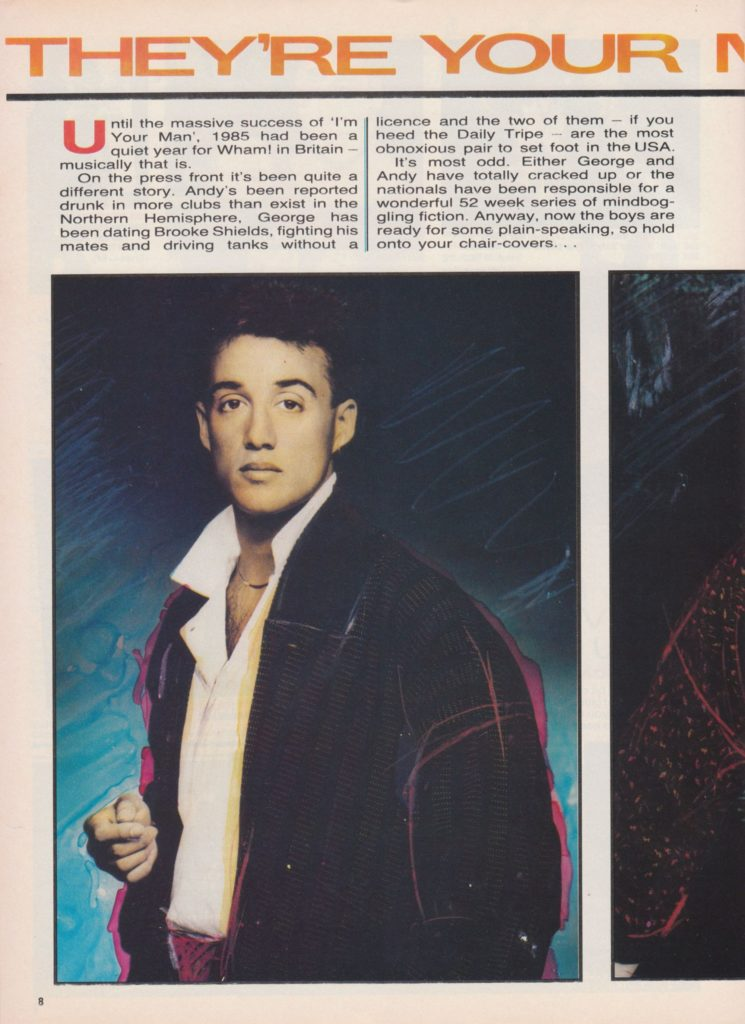 Wham! Interview on No 1 Magazine (November 1985)
