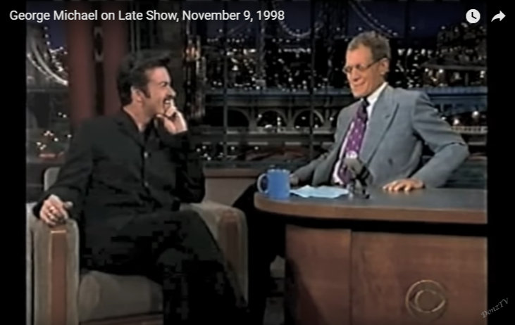 George Michael Interview on the David Letterman Show (1998)