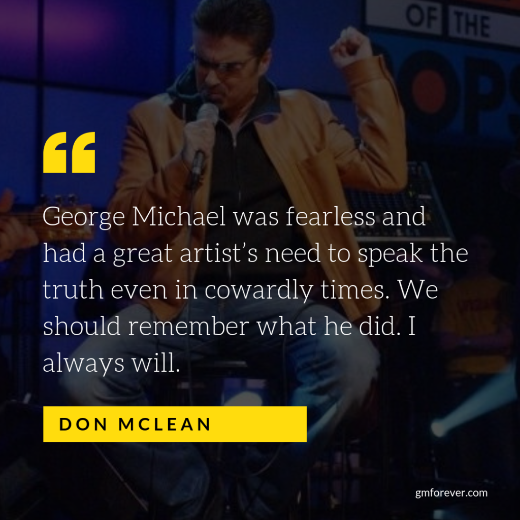 George Michael's Cover of Don McLean's Song 'The Grave'
