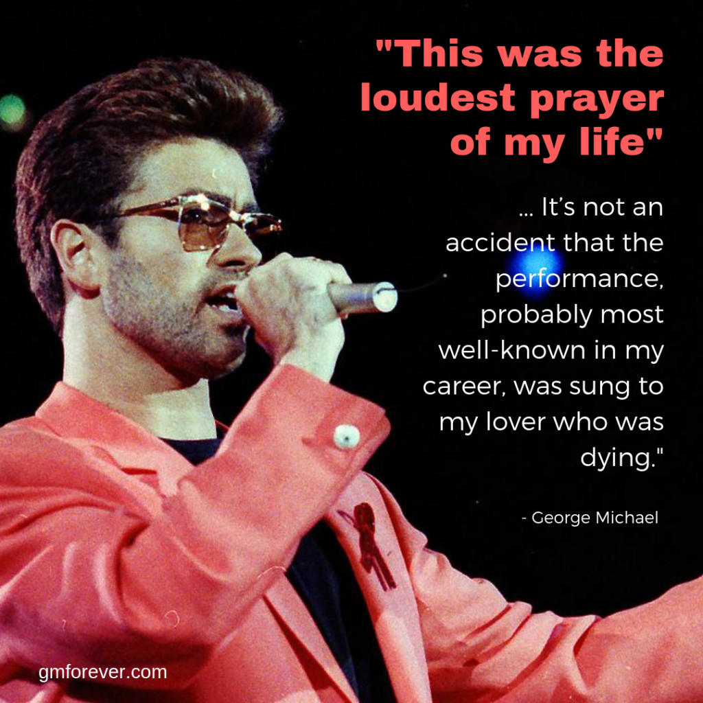 George Michael at the Freddie Mercury Tribute Concert for