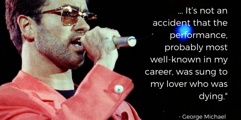 George Michael on the Freddie Mercury Tribute Concert