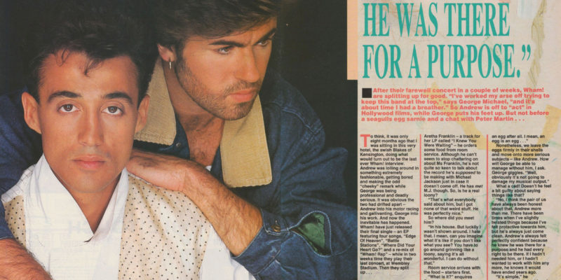 "George: Michael: ""Andrew Knew He Was There For A Purpose"""