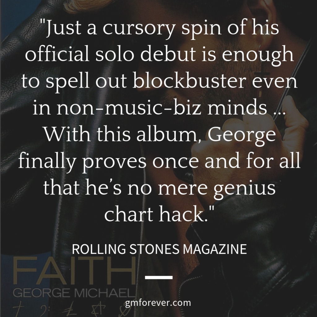 Rolling Stone magazine on George MIchael's Faith album