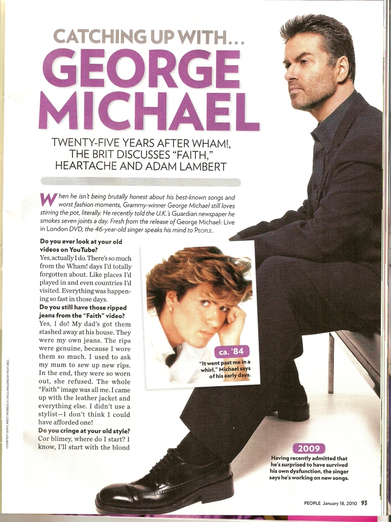 People Magazine interview of George Michael