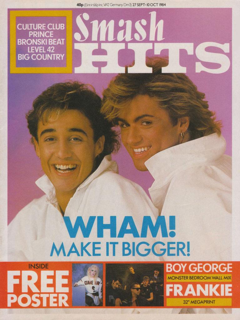Smash Hits Magazine October 1984 Wham cover