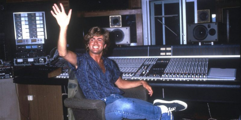 george michael in the studio
