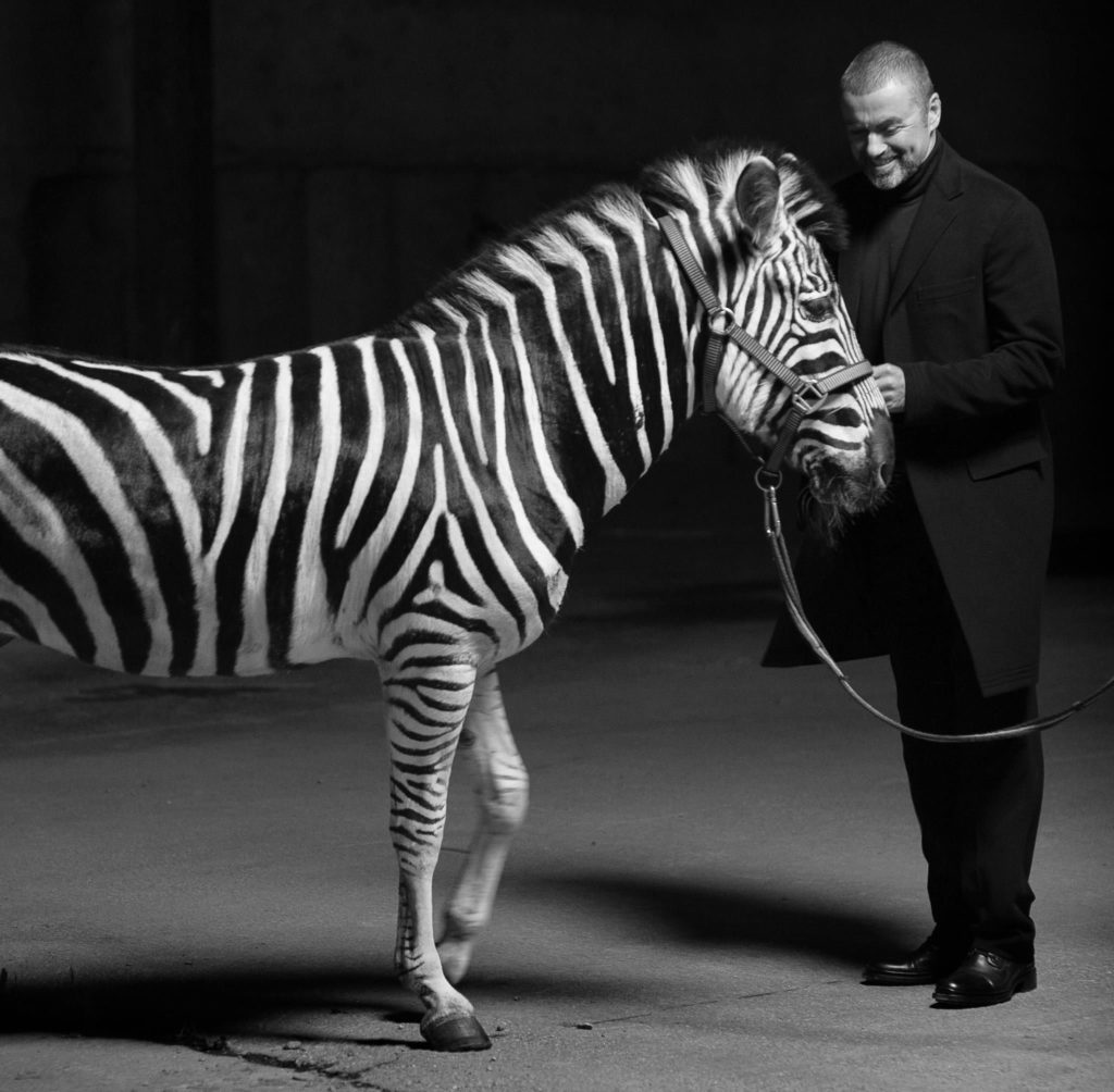 White Light George Michael with Zebra