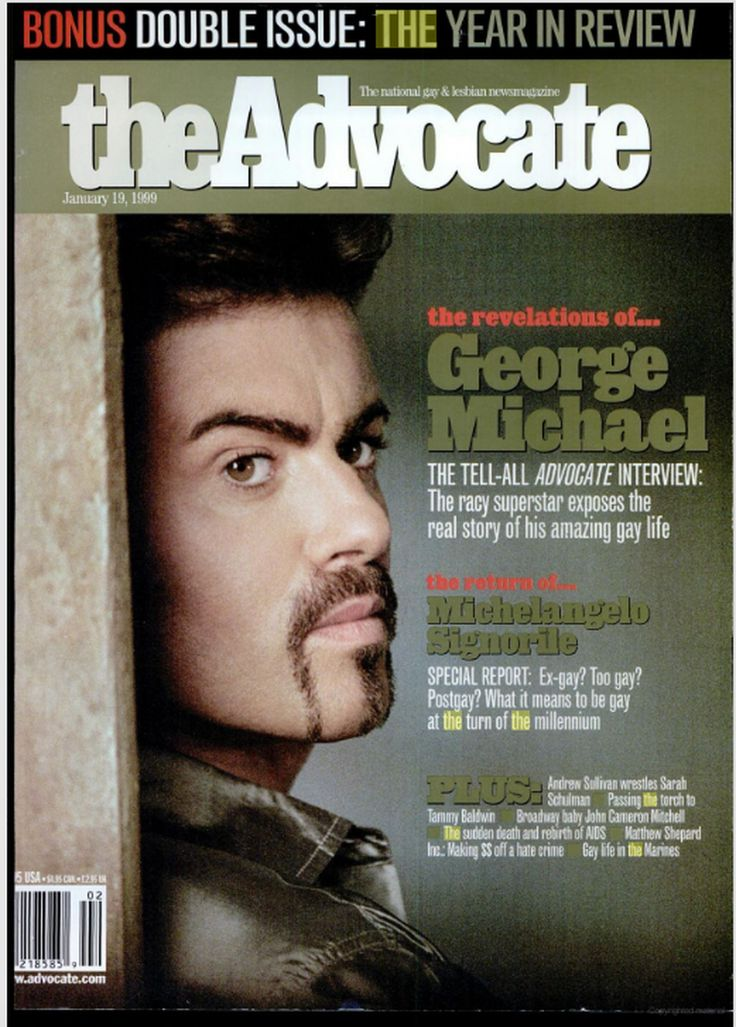 Advocate magazine George Michael cover
