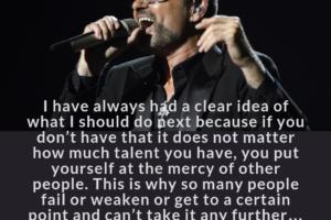 George Michael on his career path