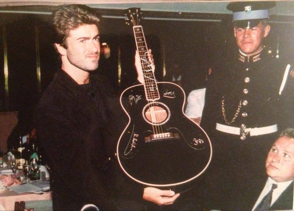 George Michael Paid £55,000 for a Guitar at Silver Clef Awards Ceremony (1989)