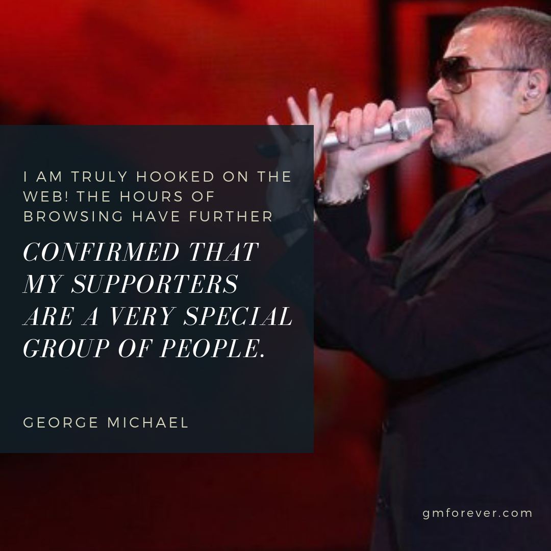 Letter of George Michael to Fans on ÆGEAN.net