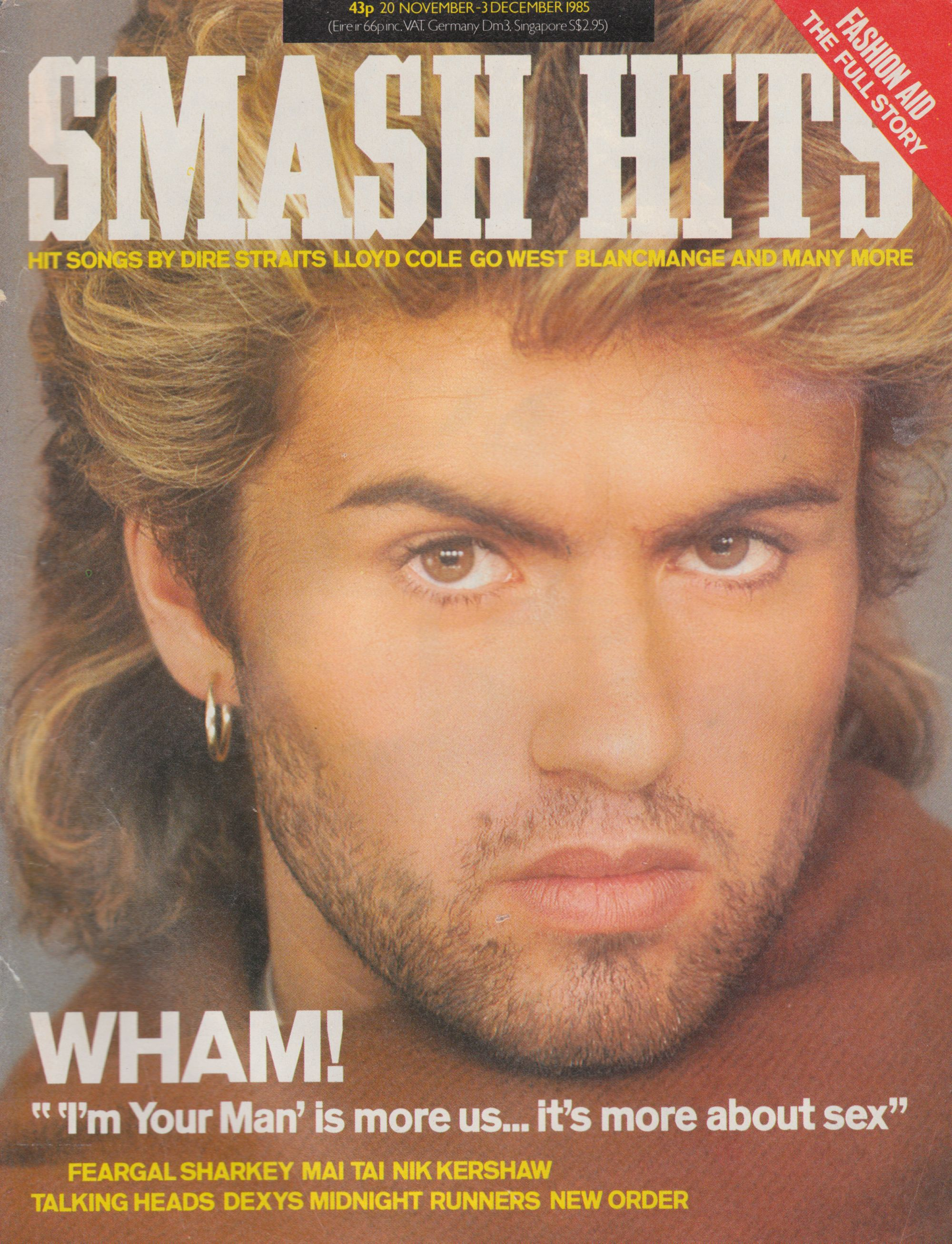 "I'm Your Man is more about us ... it's about sex"" « Smash Hits, 20th November - December 3rd 1985"