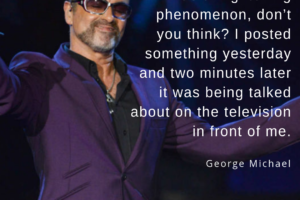 George Michael on Joining Twitter