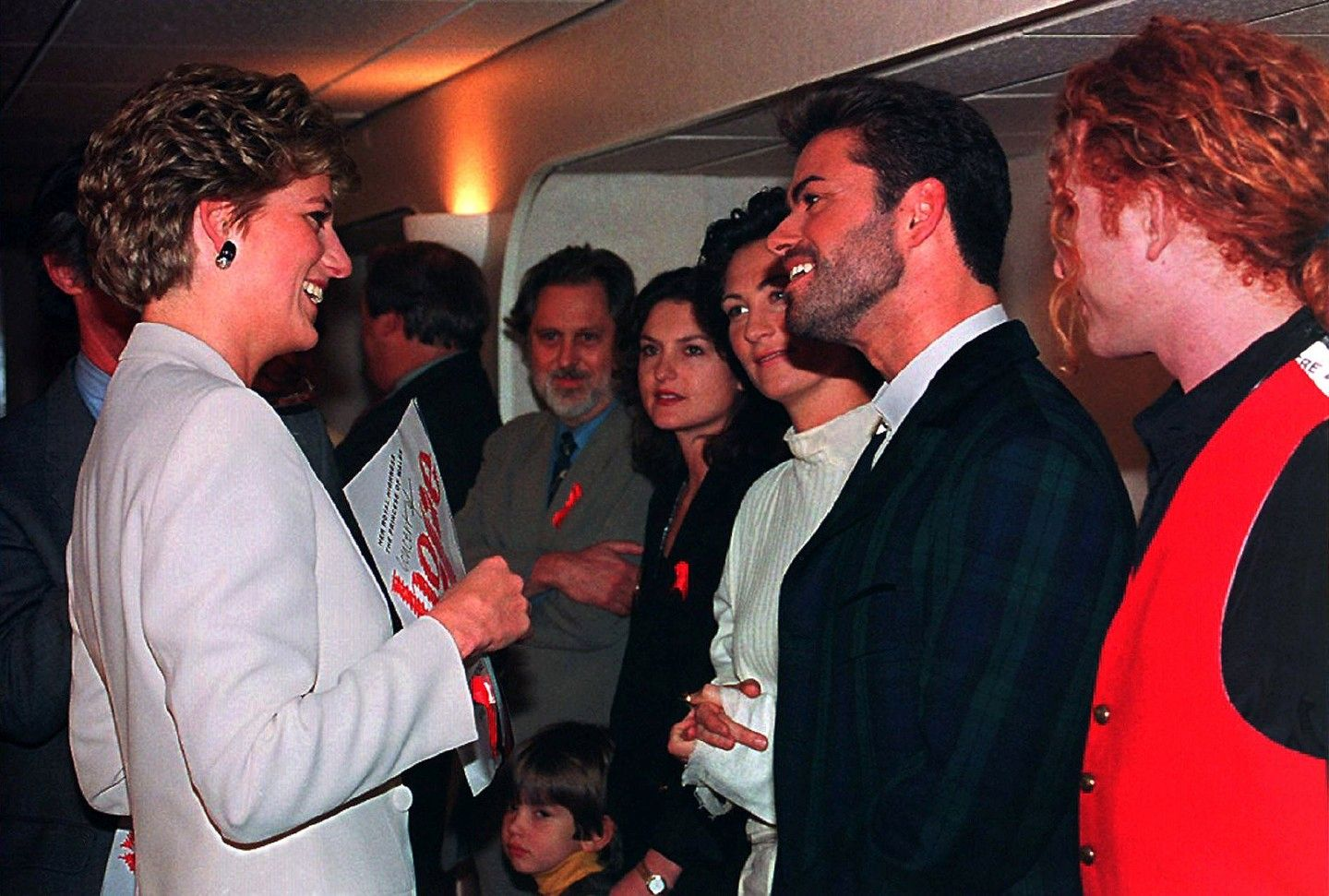 Backstage Concert of Hope George Michael with Princess Diana