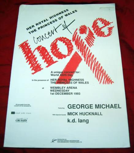 concert of hope - tour programme