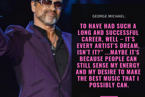 George Michael on having a long successful career