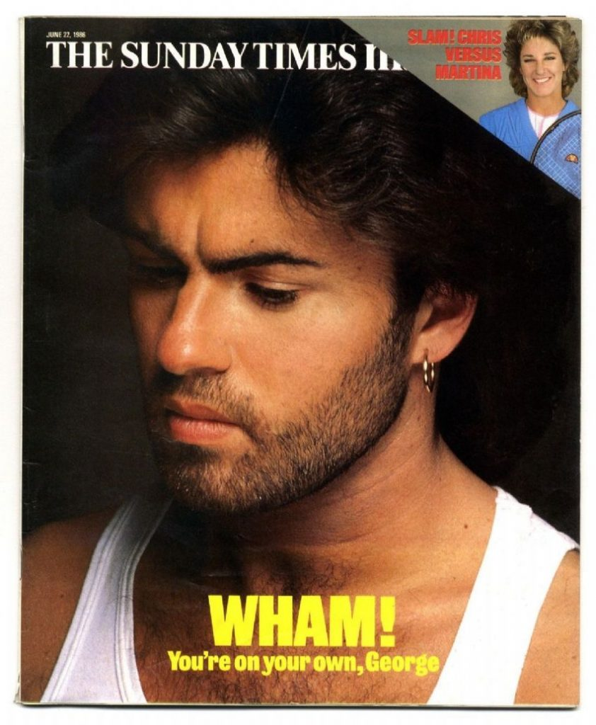 Sunday Times June 1986 cover of George MIchael