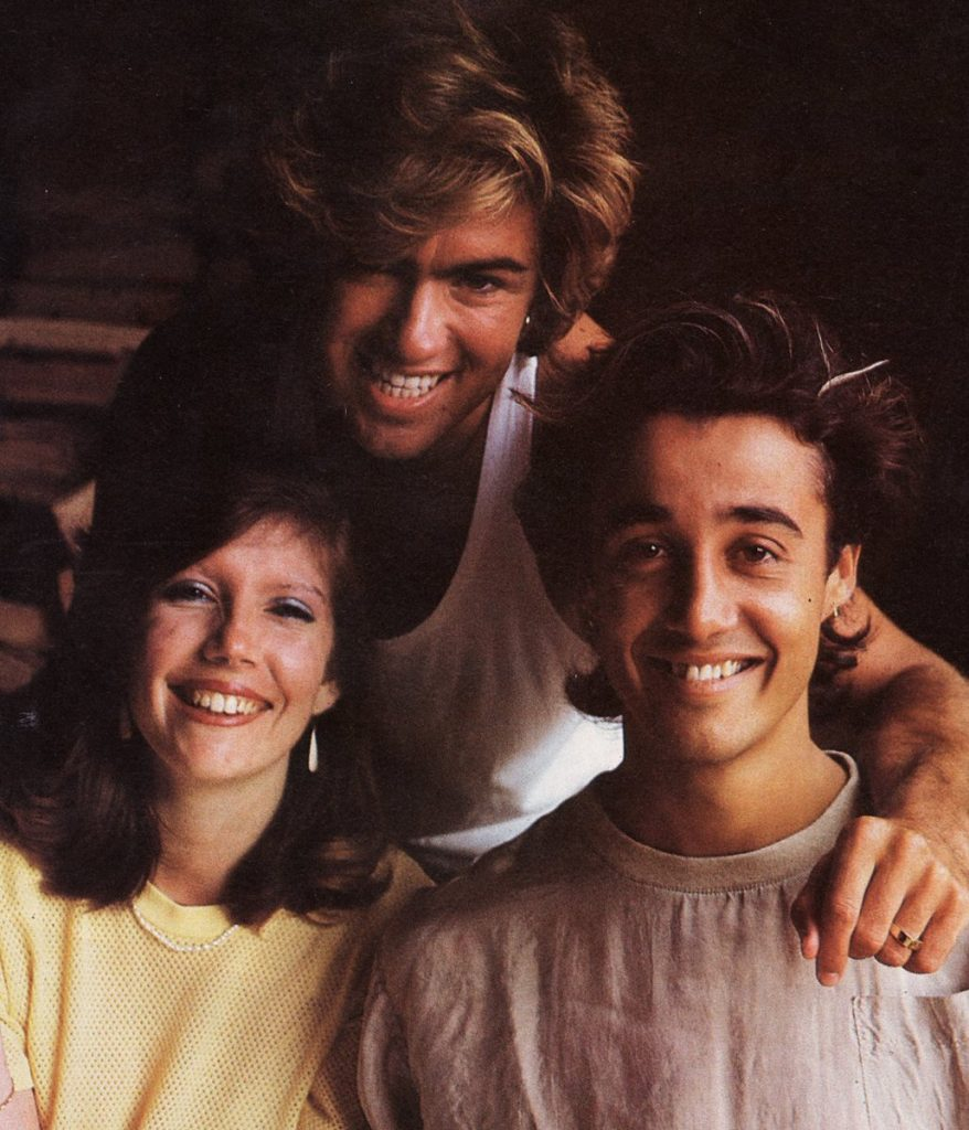 Debbie Jones and Wham! Andrew Ridgeley and George Michael