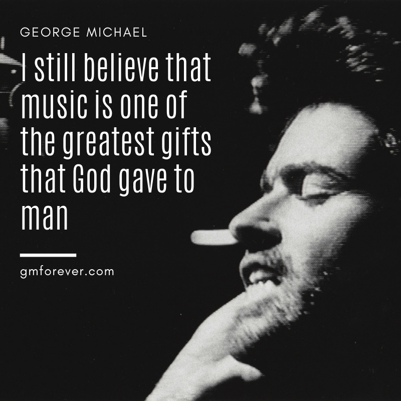George Michael Quote from Grammy Awards website