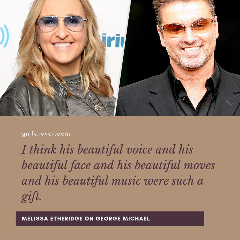 LGBT activist and American singer Melissa Etheridge shared her memories of George Michael.