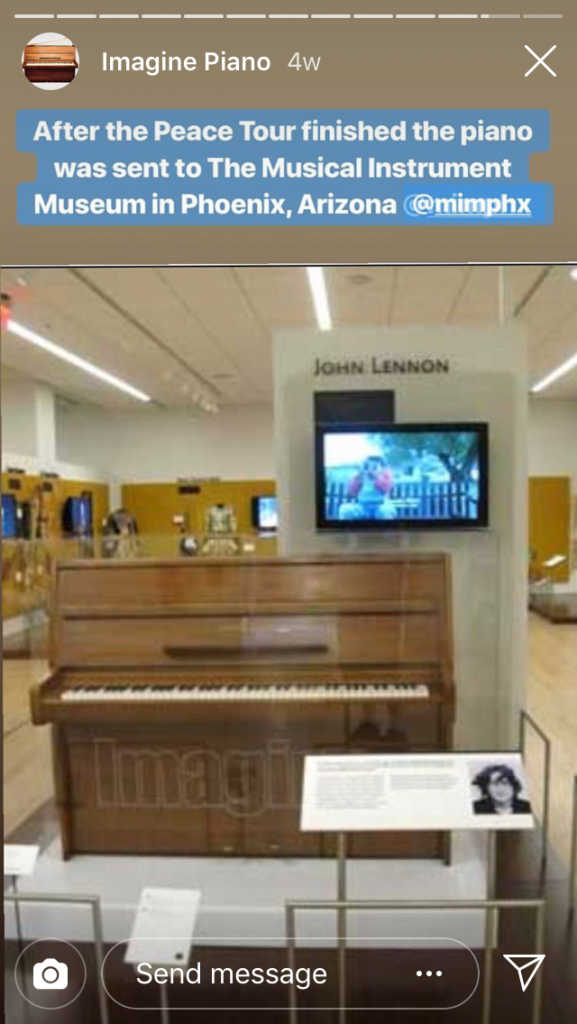 George Michael's John Lennon Piano Peace Tour