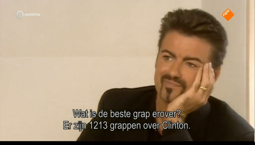 George Michael Interview by Ivo Niehe on Dutch TV (1998)