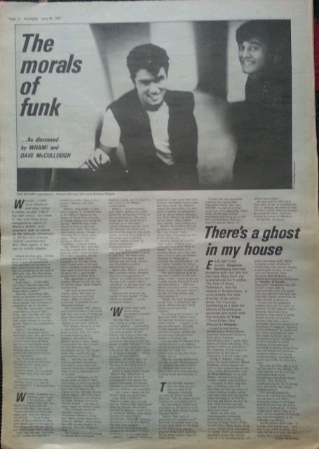Wham! Interview: The Morals of Funk (Sounds, 1982)