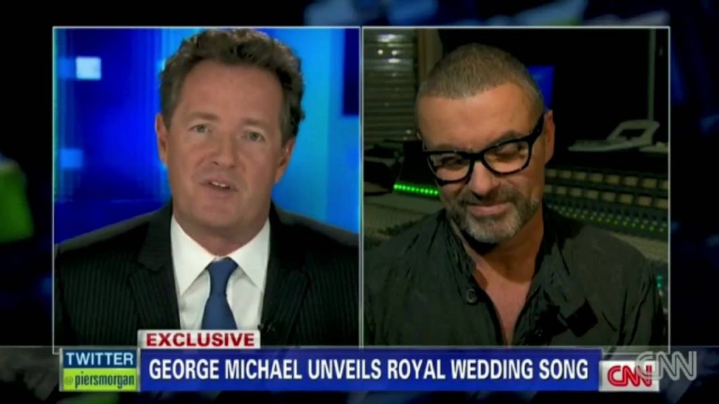 George Michael's Song for William and Kate - Piers Morgan Tonight (2011)