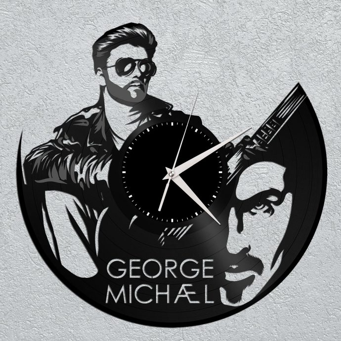 George Michael Vinyl Wall Clock