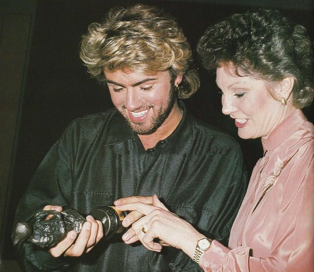 George Michael's Ivor Novello Award Wins with Angela Rippon