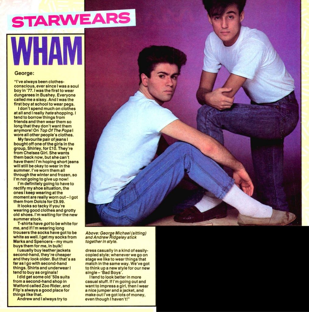 Starwears: George Michael (No. 1 Magazine, 1983)