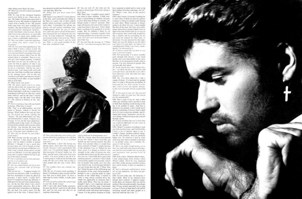 'Souled Out: George Michael' Published in Interview Magazine (1988)