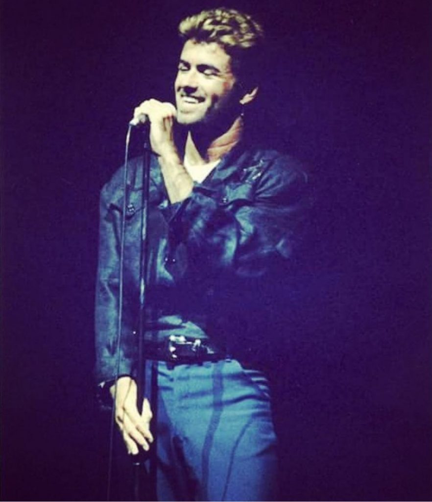 Concert review of George Michael's Faith Tour performance at Shoreline Amphitheatre in California USA where he performed on September 27-29, 1988.