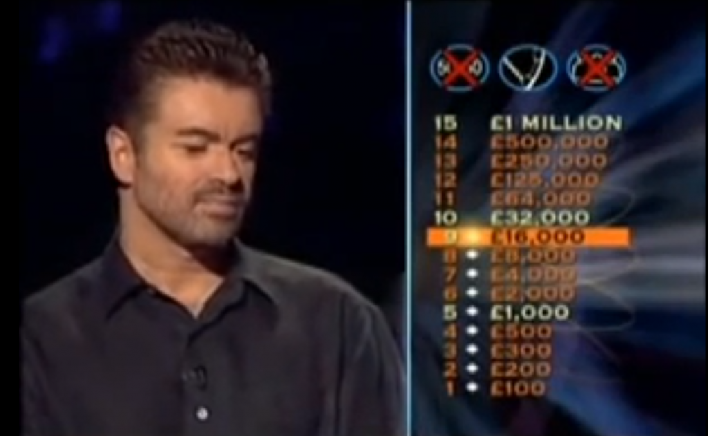 George Michael on 'Who Wants to be a Millionaire'