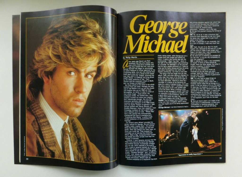 George Michael Interview in Graffiti Magazine (1987)